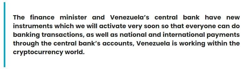 Maduro said